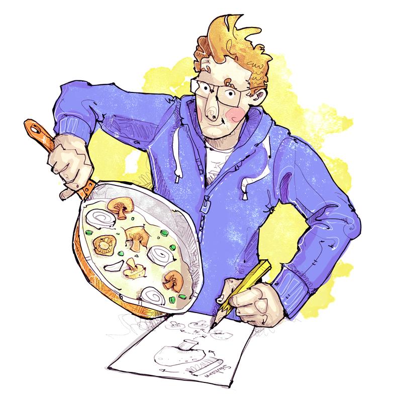 Illustration Kochen