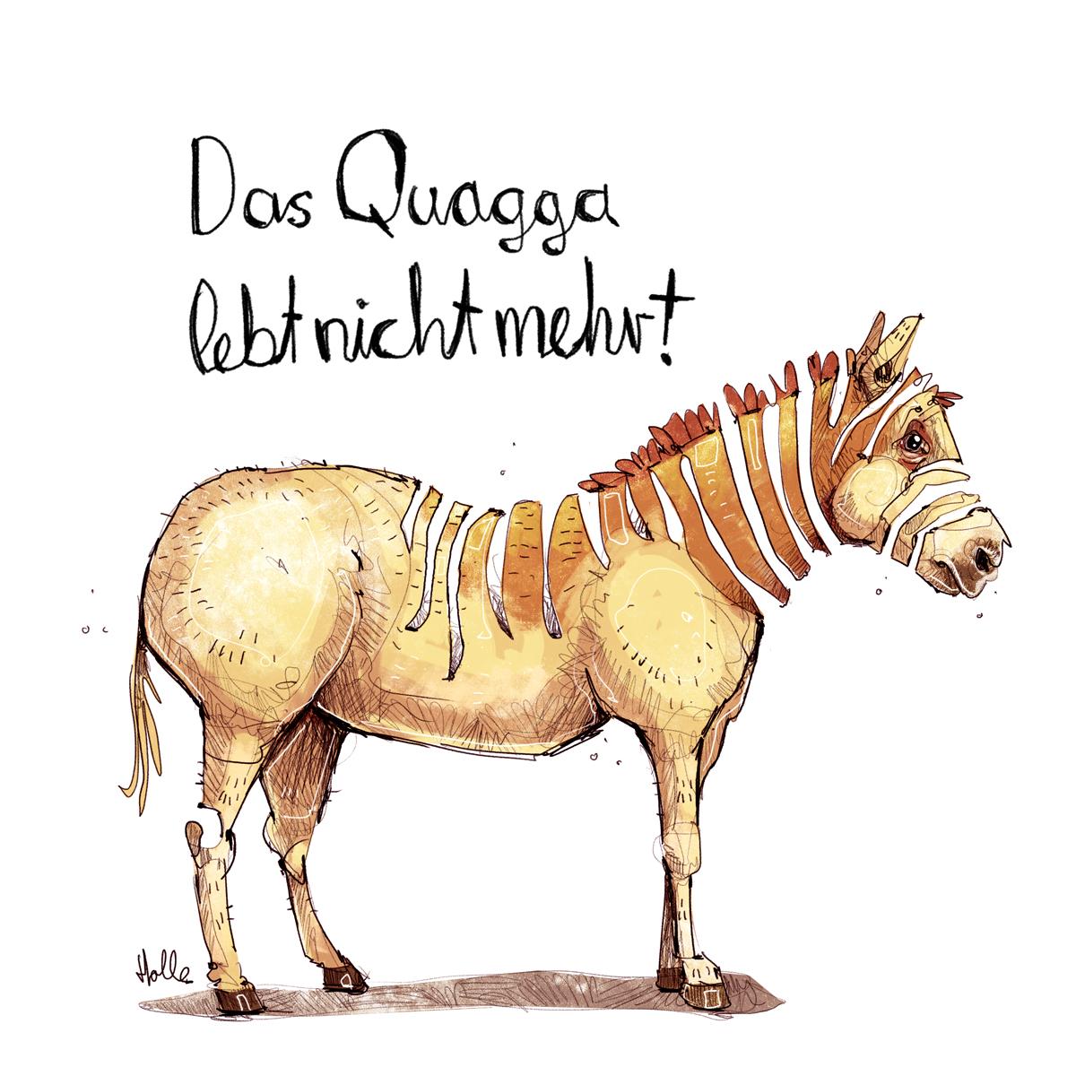 Quagga vom Aussterben bedroht Umwelt Zeichnung