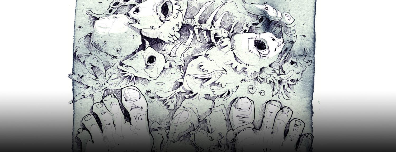 derholle Dagon Buchillustration Gruselbuch H. P. Lovecraft