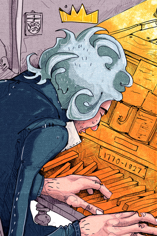Ludwig van Beethoven Preview Zoom Bonn Ausstellung Illustration