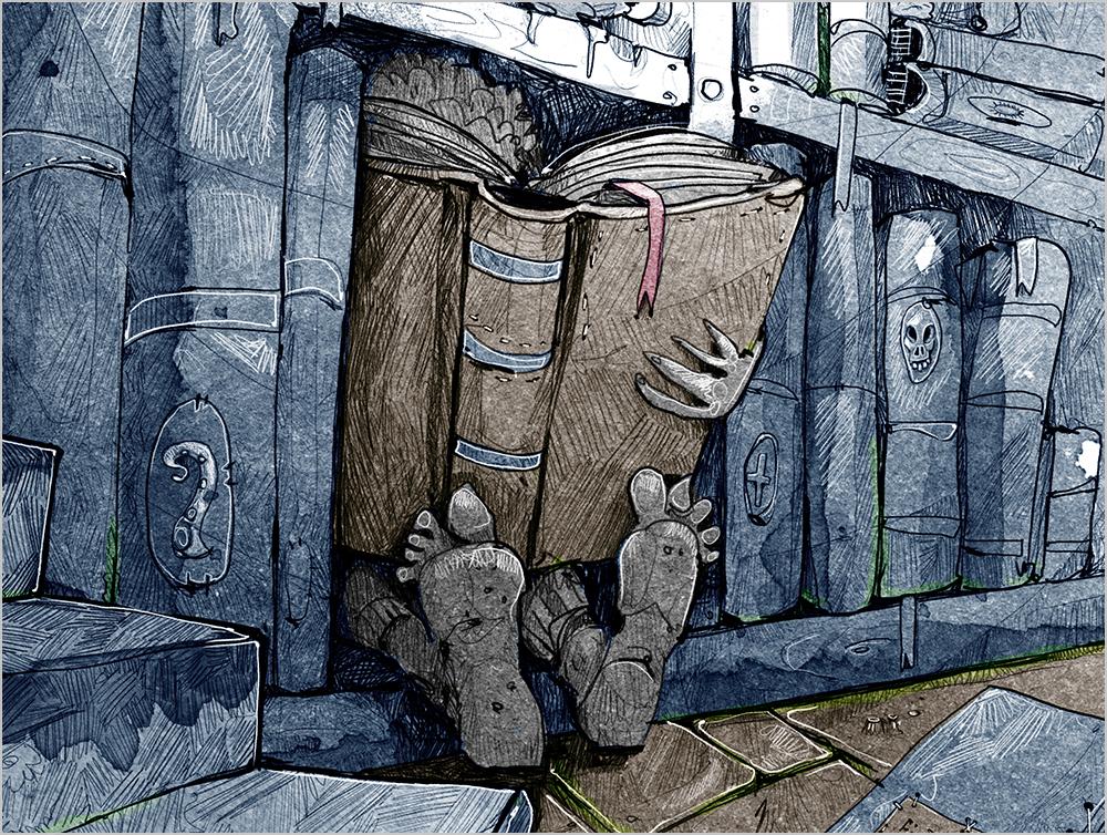 Der Außenseiter H. P. Lovecraft Horror Buchillustration Gruselbuch Illustrator Bonn Jugendbuch