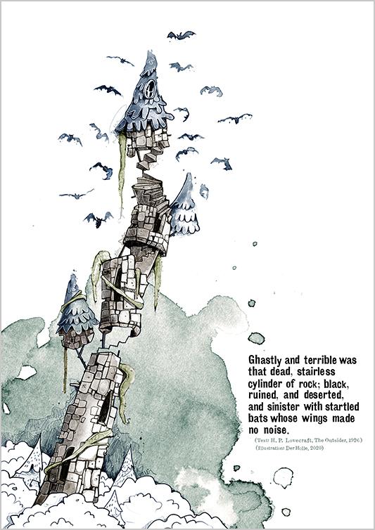 Arkham derholle bonn illustrator cthulhu lovecraft aquarell