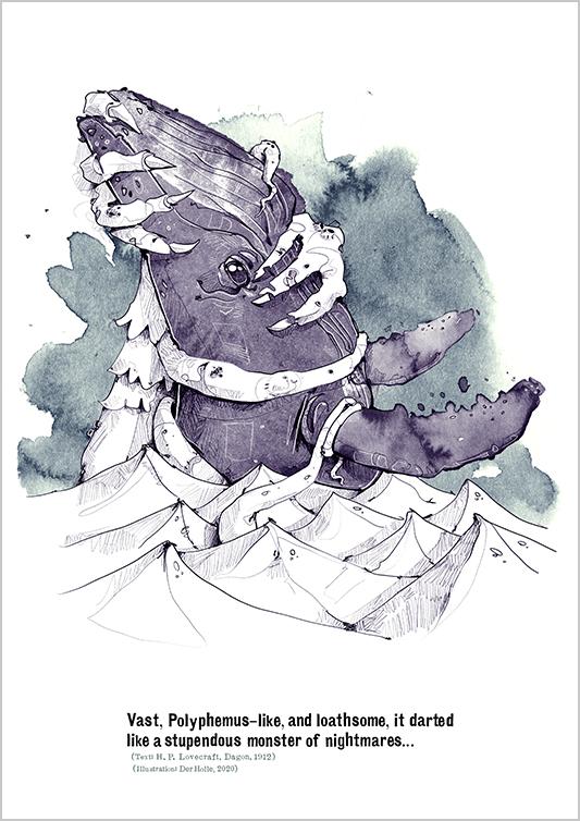Arkham derholle bonn illustrator cthulhu lovecraft aquarell Wal