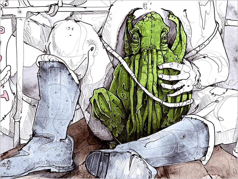Arkham derholle bonn illustrator lovecraft aquarell Cthulhu