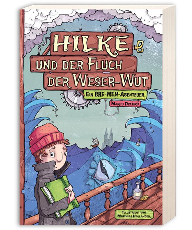 Matthias Holländer derholle Bonn Buchillustration Kinderbuch Jugendbuch Hilke und der Fluch der Weser Wut