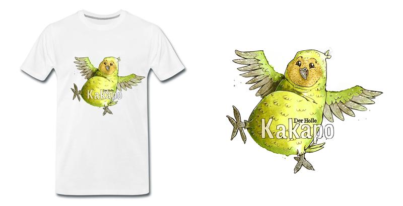 Kakapo Vogel Illustration T-Shirt