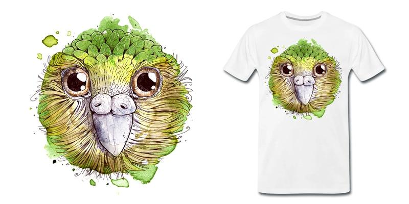 kakapo-vogel-t-shirt